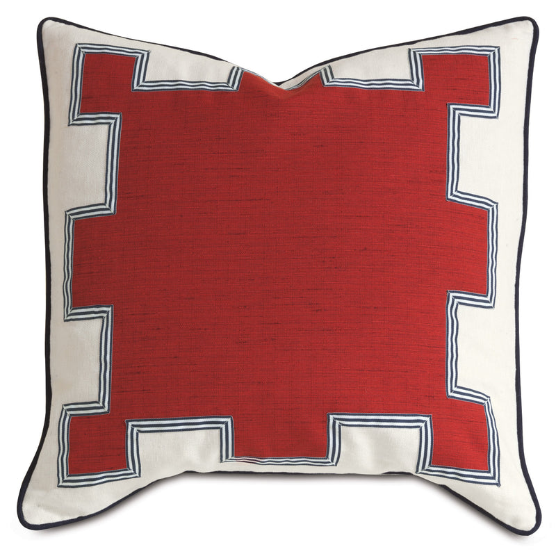 Kanzan Crimson Accent Pillow