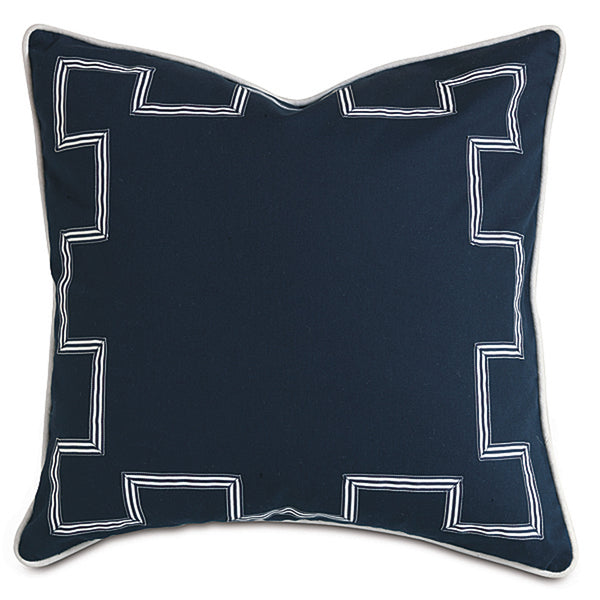 Schooner Navy Accent Pillow