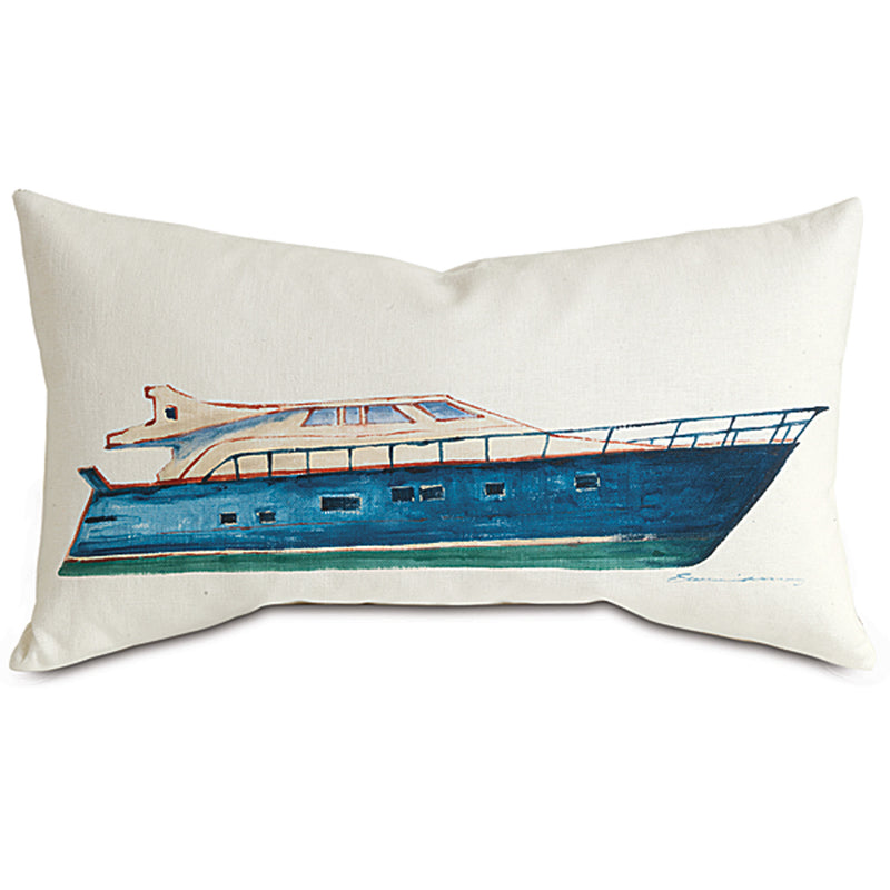 Filly White Hand-Painted Accent Pillow