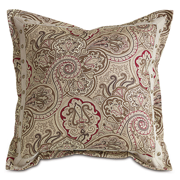 Freemont Russet Border Accent Pillow