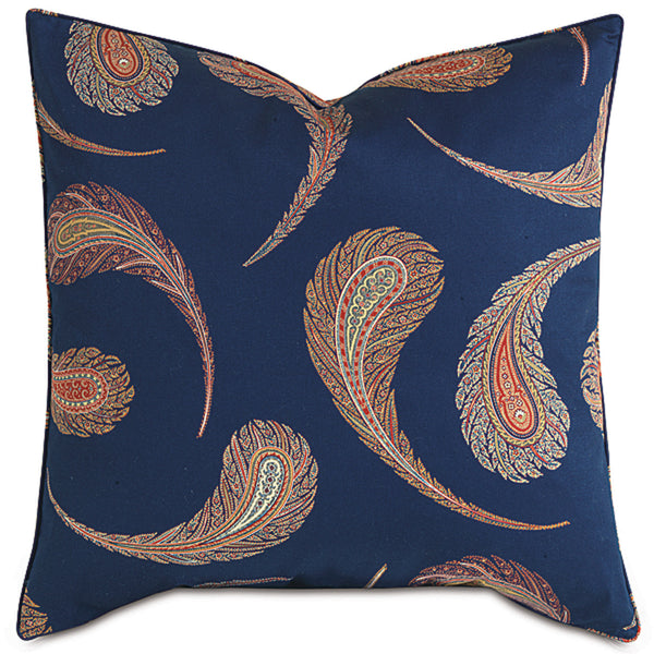Aigrette Royal with Mini Welt Accent Pillow