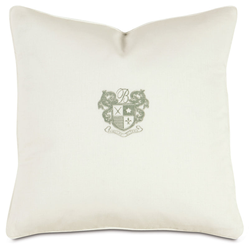 Shell/Mint Embroidery Decorative Pillow