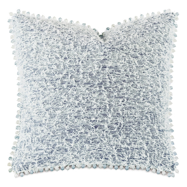 Montecito Beaded Trim Decorative Pillow