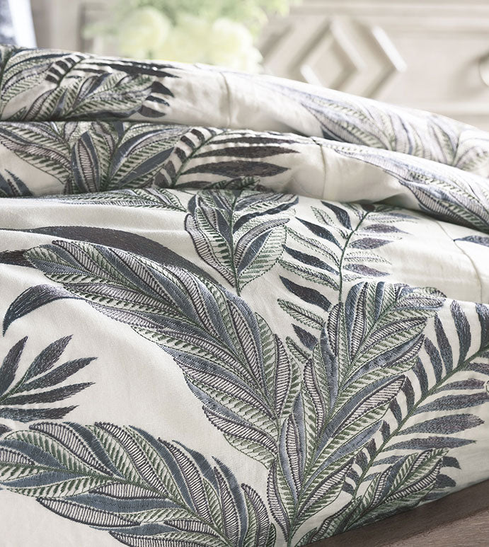 Montecito Embroidered Duvet Cover