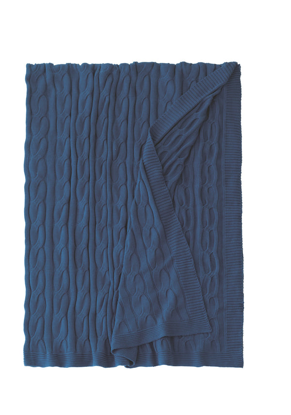 Avalon Indigo Throw