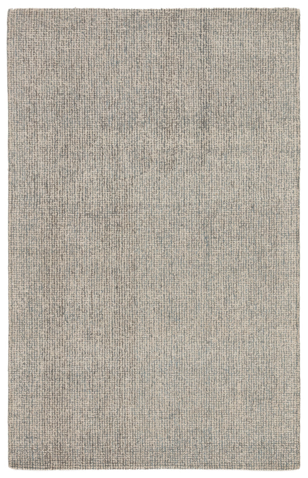 Oland Handmade Solid White/ Light Blue Area Rug