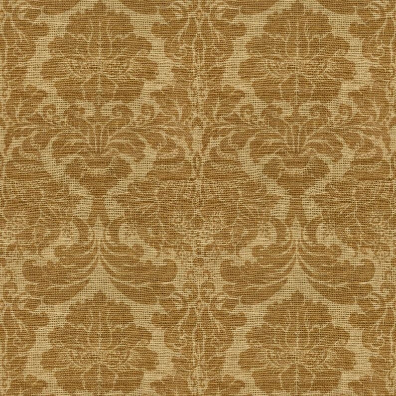 Sample Bangla Damask Fabric in Straw
