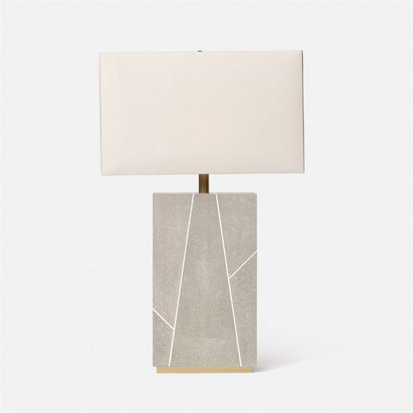 Breck Faux Shagreen Table Lamp