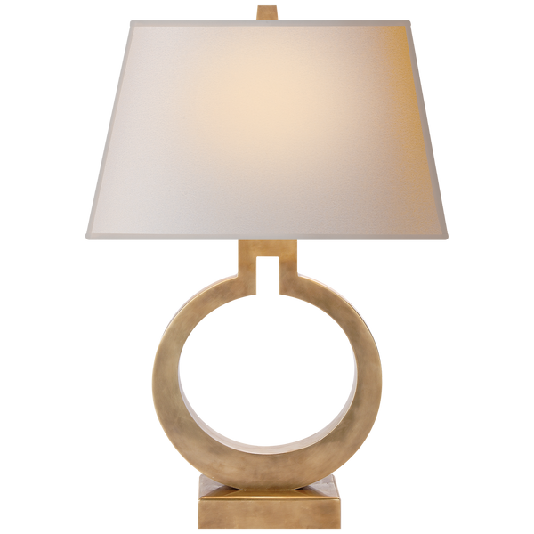 Ring Form Large Table Lamp by Chapman & Myers