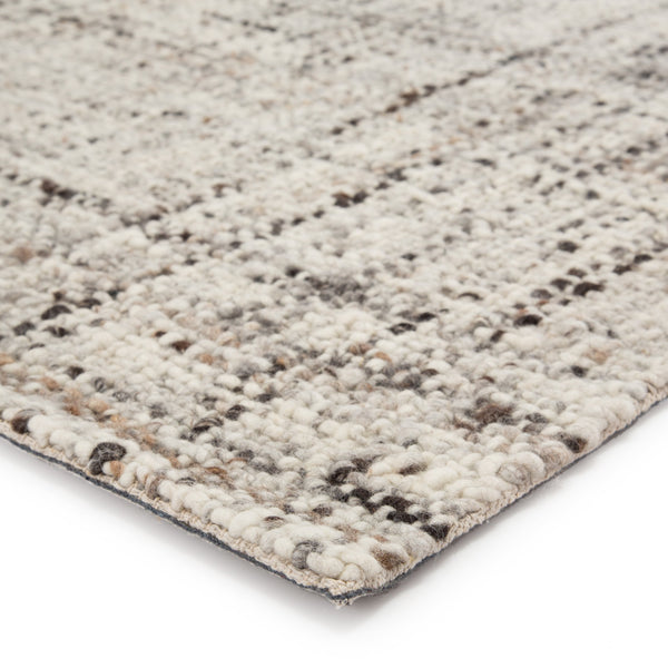 Season Handmade Solid Gray & Ivory Area Rug