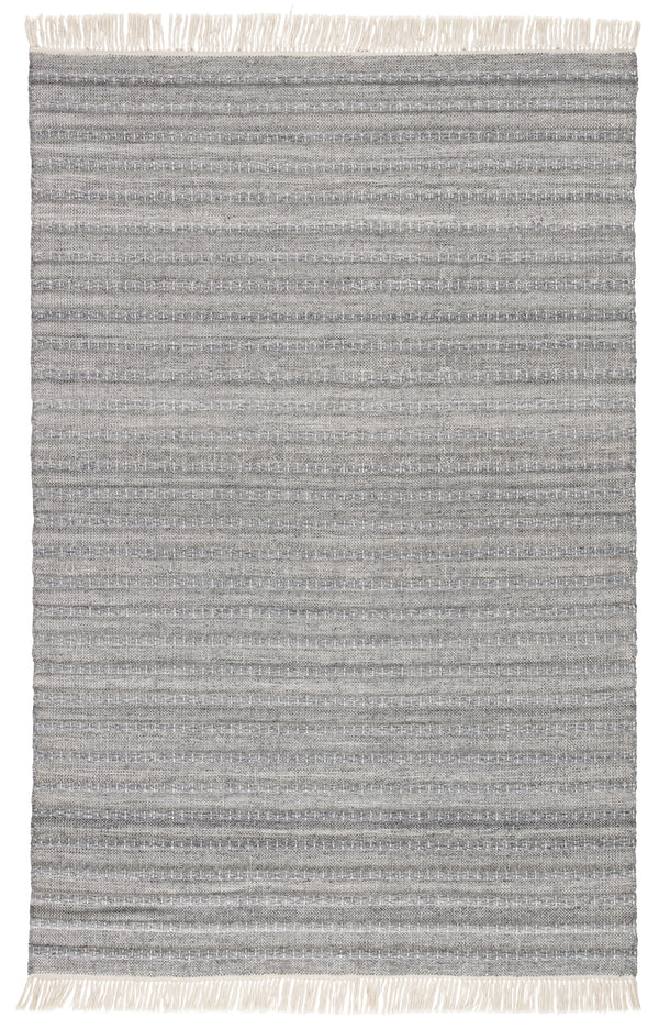 Torre Indoor/ Outdoor Solid Gray/ Cream Area Rug