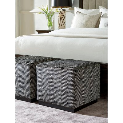 Colby Cube Ottoman in Black