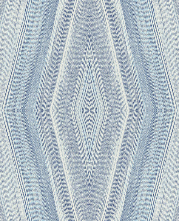 Crosscut Indigo Wallcovering from the Living in Style Collection