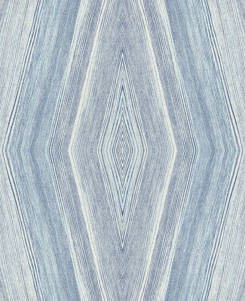 Sample Crosscut Indigo Wallcovering