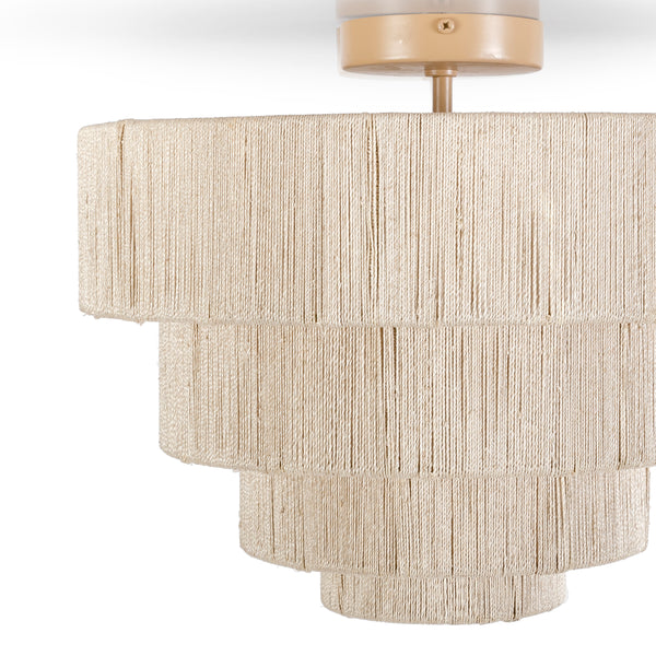 Everly Semi Flush Mount, Natural
