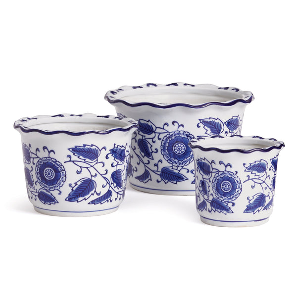 Dynasty Scalloped Pots Set of 3 design by shopbarclaybutera