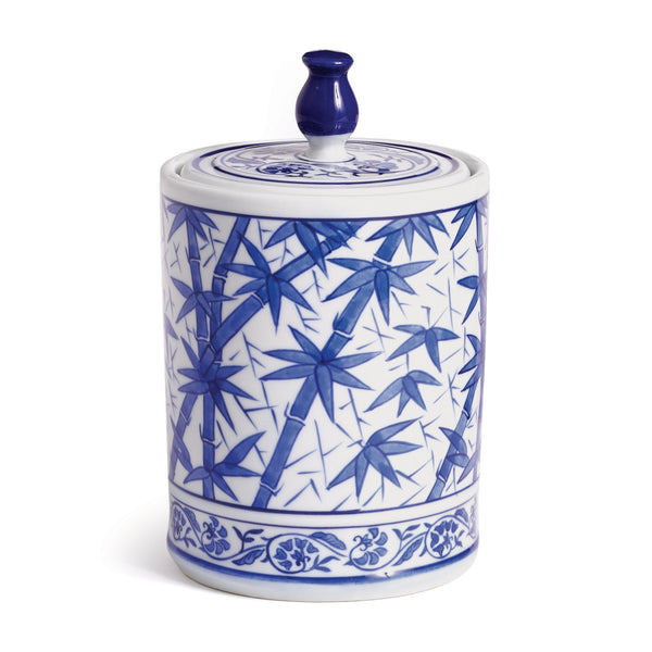 Dynasty Bamboo Lidded Jar design by shopbarclaybutera