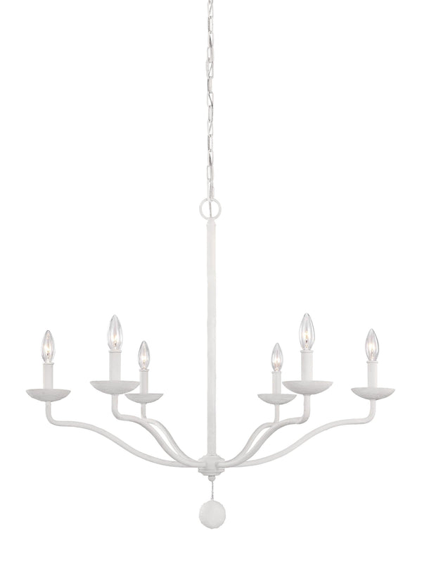 Annie Collection 6 - Light Chandelier by Feiss