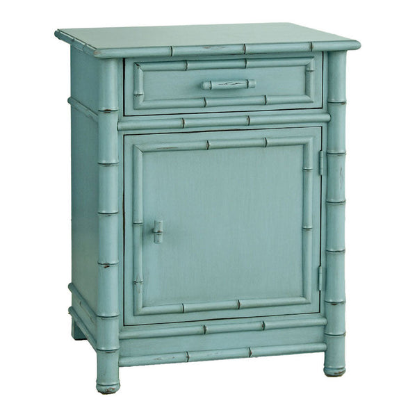 Faux Bamboo Nightstand in Various Finishes