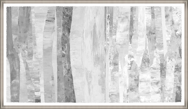 Fractured Silver Framed Wall Art