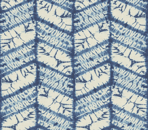 Good Vibrations Indigo Wallcovering