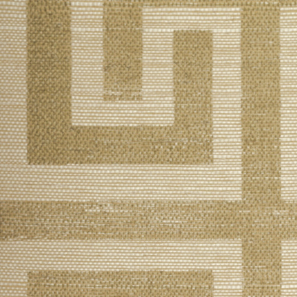 Sample Greek Key Grasscloth Wallcovering