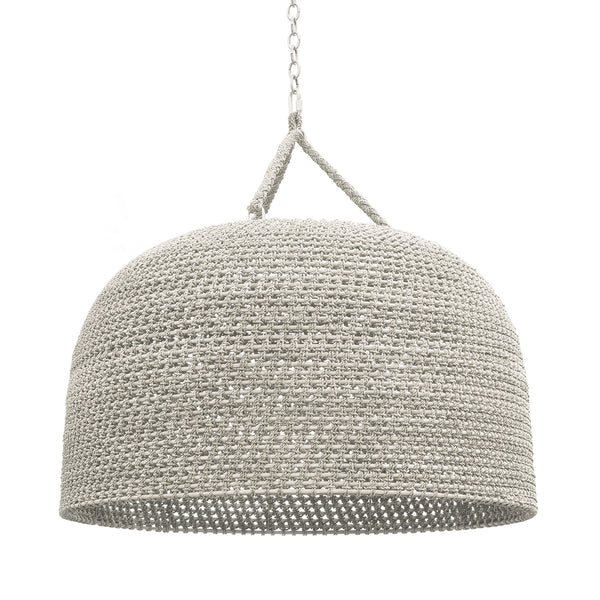 Green Oaks Oversized Pendant, White Sand