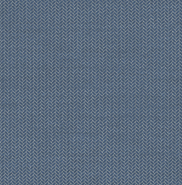 Sample Haberdashy Indigo Wallcovering