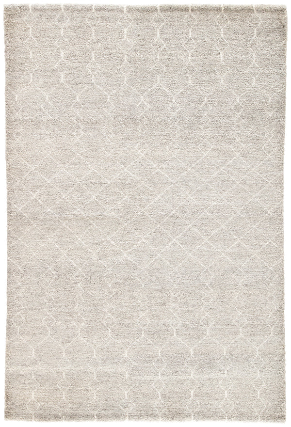 Margo Geometric Rug in Flint Gray & Cloud Dancer