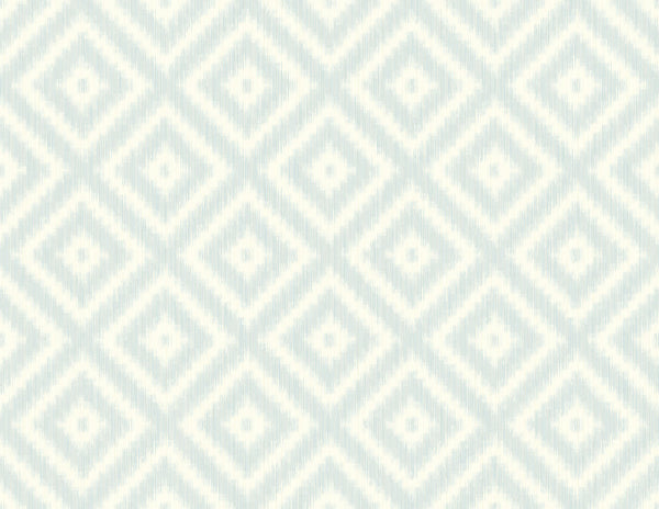 Ikat Diamond Clear Skies Wallcovering