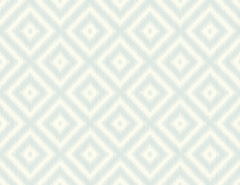 Sample Ikat Diamond Clear Skies Wallcovering