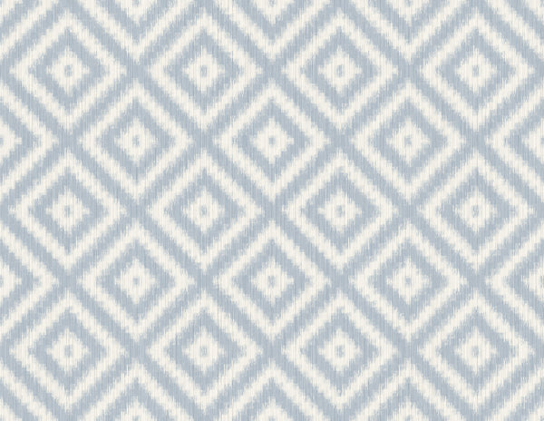 Sample Ikat Diamond Serenity Wallcovering