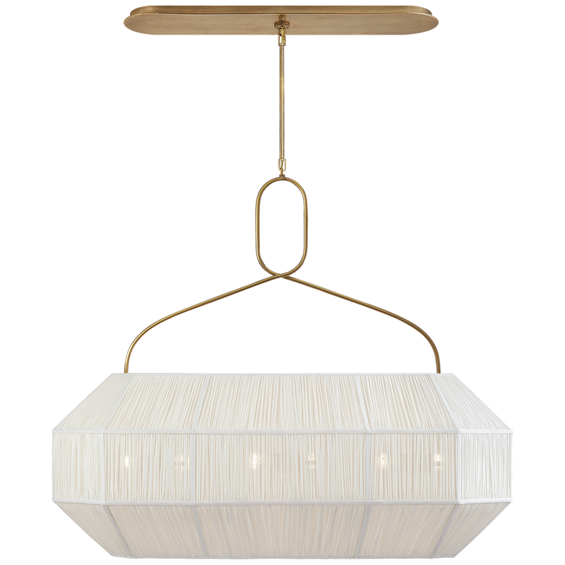 Forza Medium Gathered Linear Lantern in Various Colors