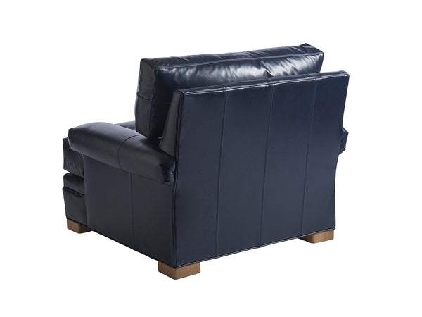Maxwell Leather Chair, Navy
