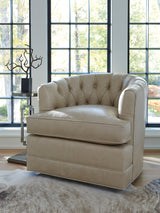 Cliffhaven Leather Swivel Chair by shopbarclaybutera