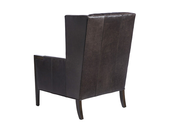 Stratton Leather Wing Chair by shopbarclaybutera
