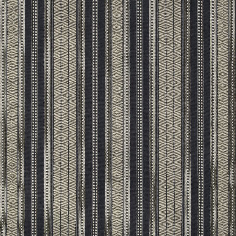 Sample Lule Stripe Fabric in Indigo