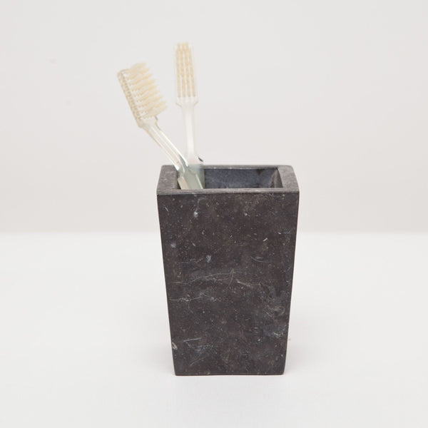 Luxor Collection Bath Accessories, Black Matte Marble