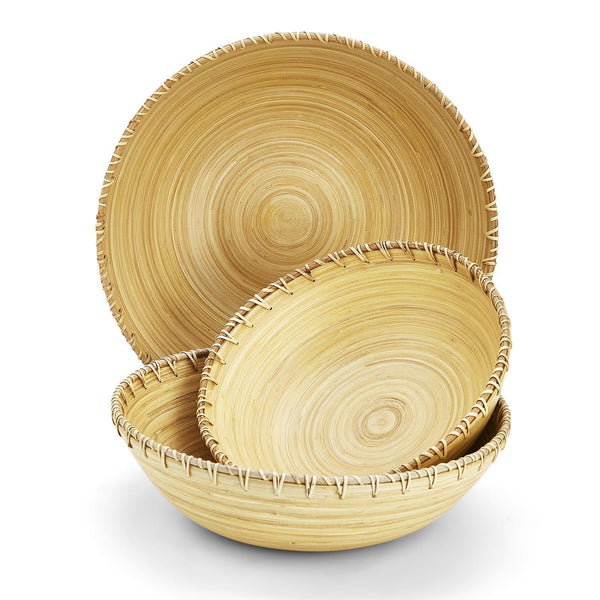 Bamboo Tablescapes Bowl, Set of 3