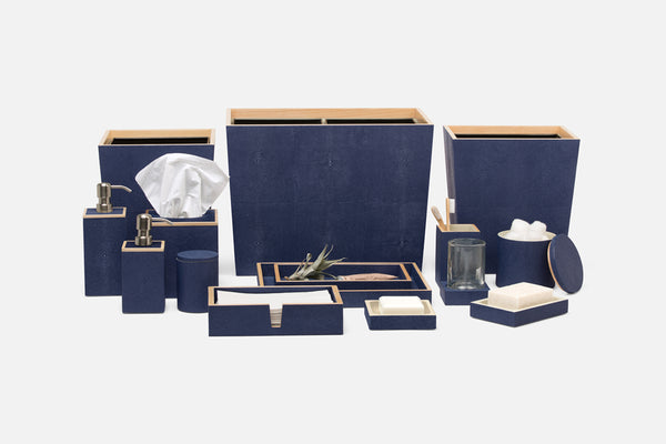 Manchester Collection Bath Accessories, Navy