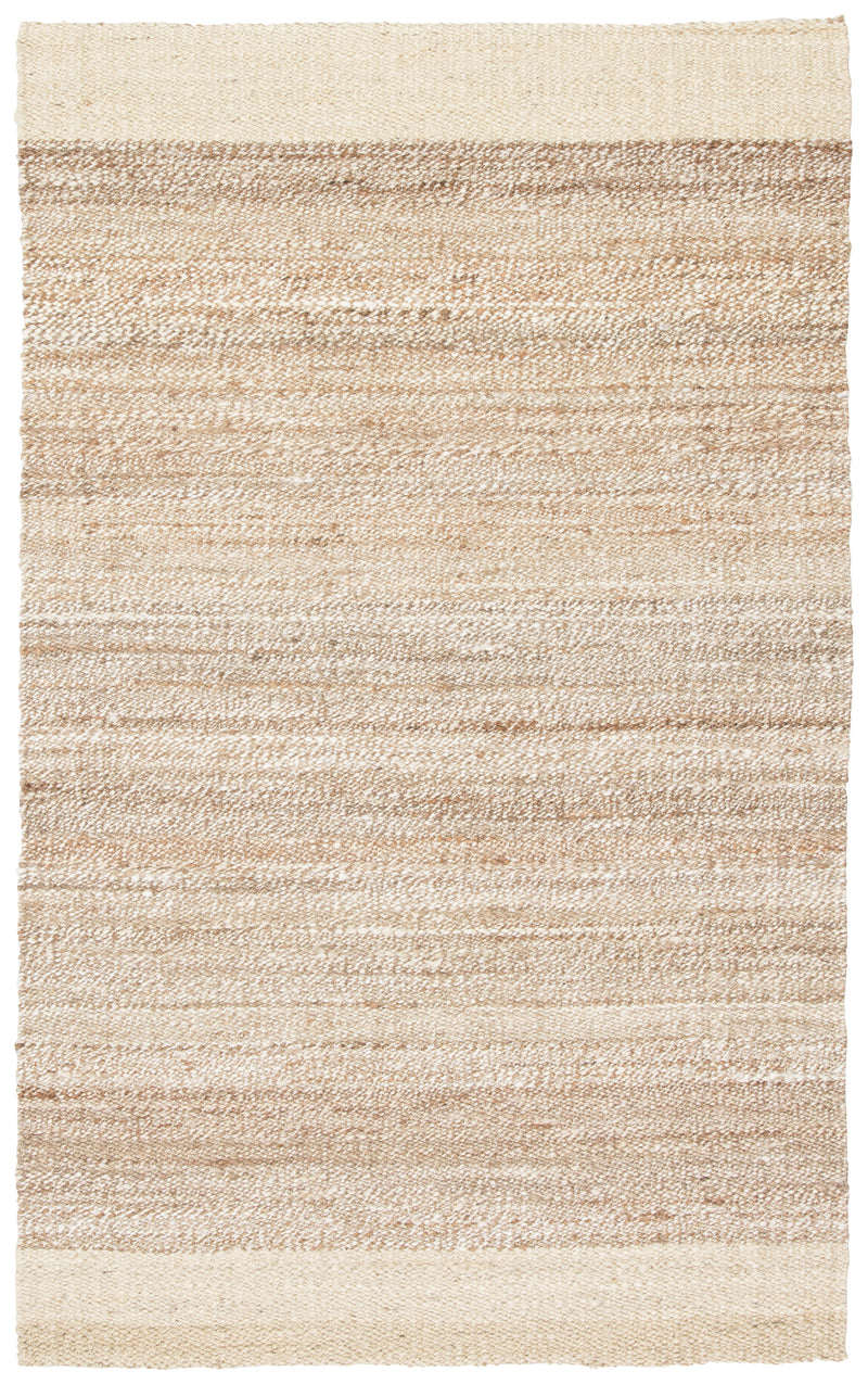 Mallow Natural Bordered White/ Tan Area Rug