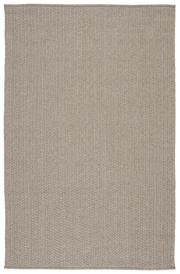 Iver Indoor/ Outdoor Solid Light Gray Area Rug