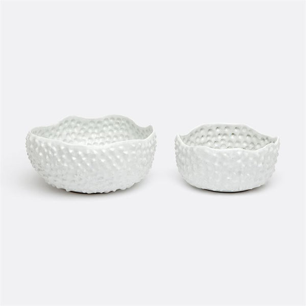 Nelson Textured Stoneware Bowls, Set of 2
