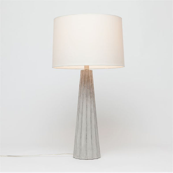Nova Leafed Cement Table Lamp