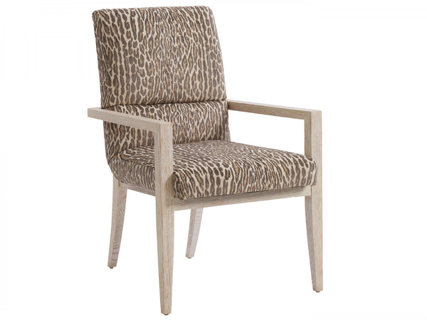 Palmero Upholstered Arm Chair, Custom Fabric