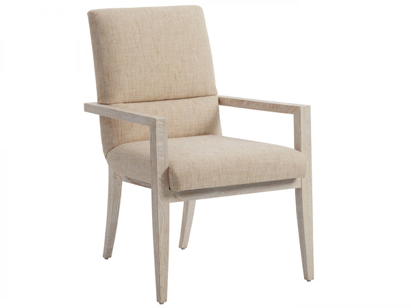Palmero Upholstered Arm Chair in Winter Wheat
