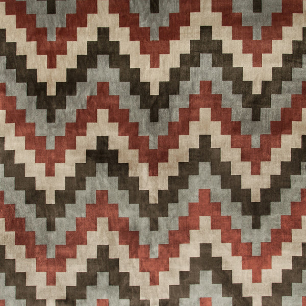 Qatari Velvet Fabric in Rosewood