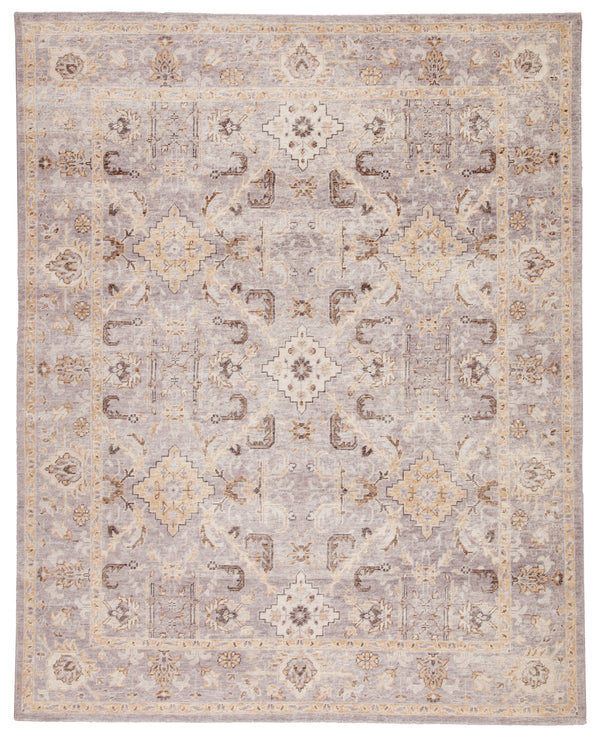 Washington Medallion Rug in Dove & Incense