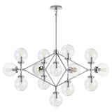 Bistro Four Arm Chandelier in Various Colors