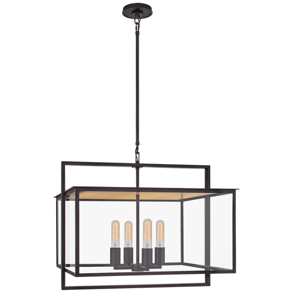 Halle Wide Hanging Lantern by Ian K. Fowler